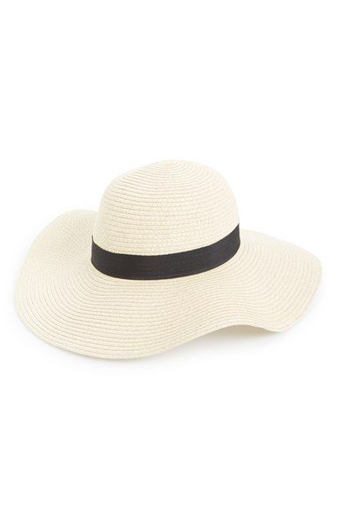 Amici Accessories Floppy Straw Hat available at #Nordstrom