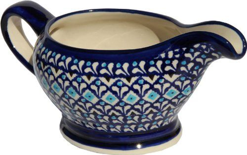 Polish Pottery Gravy Boat 16 Oz From Zaklady Ceramiczne Boleslawiec 1258217a Traditional Pattern Capacity 16 Oz *** This is an Amazon Affiliate link. Click image for more details.