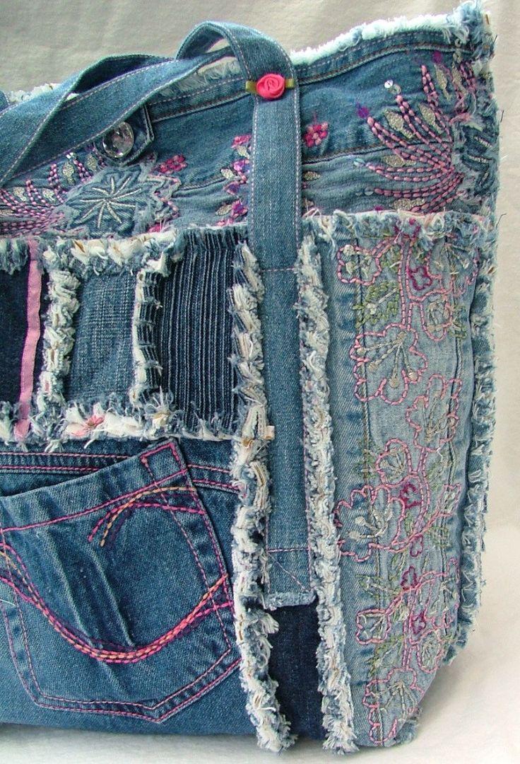 444 besten denim 8 purses Bilder auf Pinterest | Jeans tasche ...