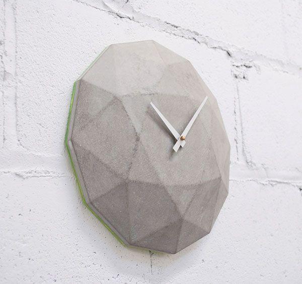Cairo Star Concrete Clock by theNDC