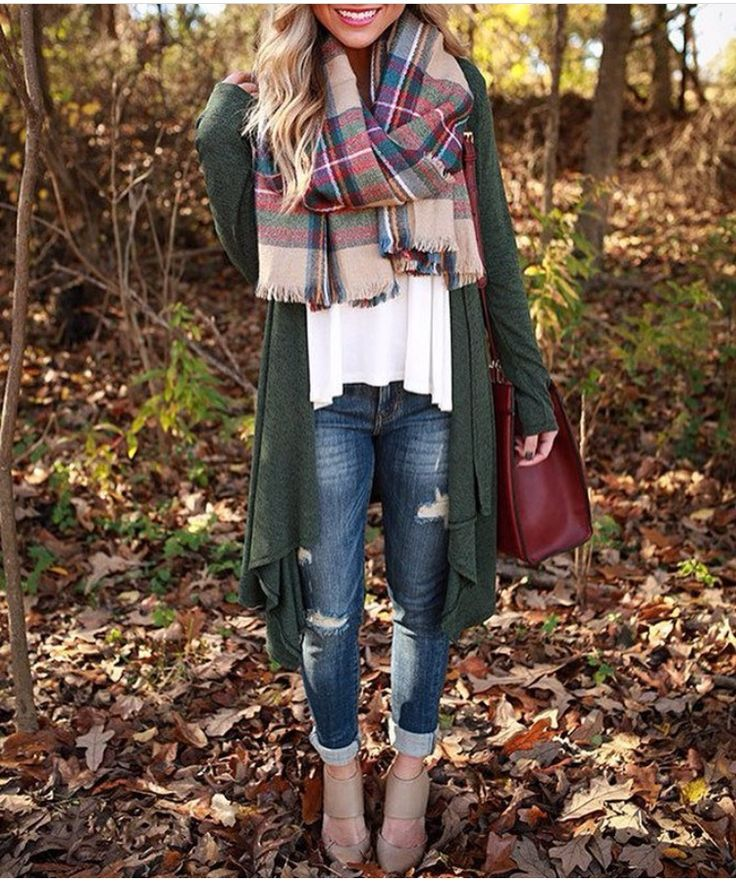 I like this scarf and jacket!!! I found something similar at Target but the plaid was only on the ends. This looks like it is an all over plaid which I like better.