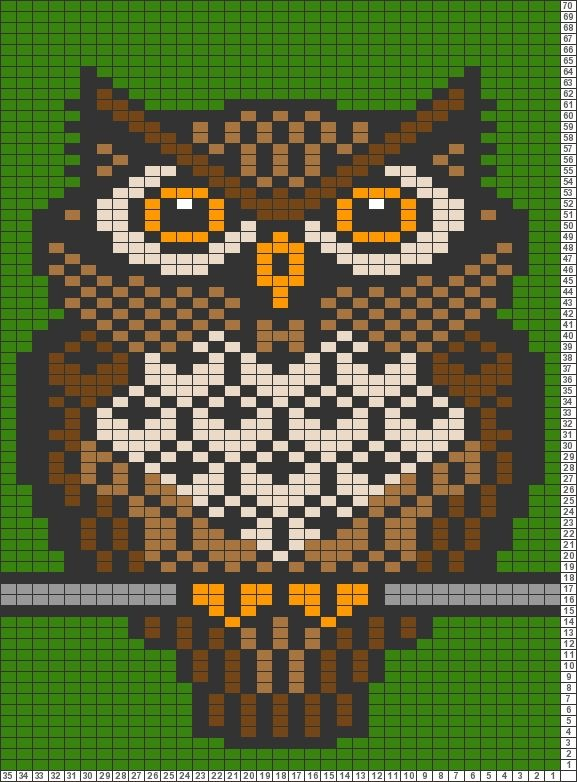 Tricksy Knitter Charts: Brown owl by elephant999girl