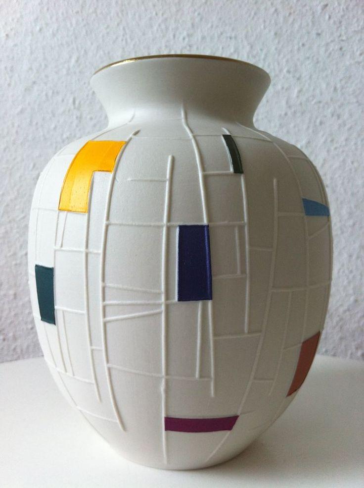 Kerafina+Royal+KM+Porzellan+Vase+Marktredwitz+60er+50er+50s+60s+pop+ära+