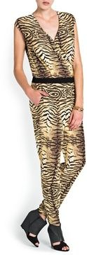 Mango Animal Print Wrap Jumpsuit on shopstyle.com | Animal print long jumpsuit with wrapped v-neckline. Contrasted elastic waist, twin pockets on the sides and side zip fastening.
