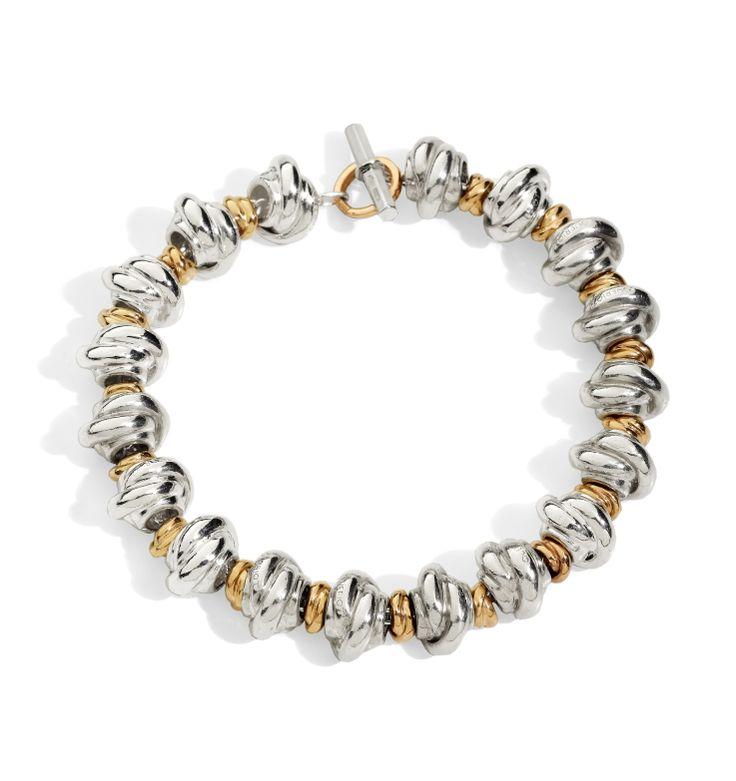 Nodi argento e nodini oro rosa 9k  bracelet silver gift women gioiello moda fashion jewellery beautiful gold queriot