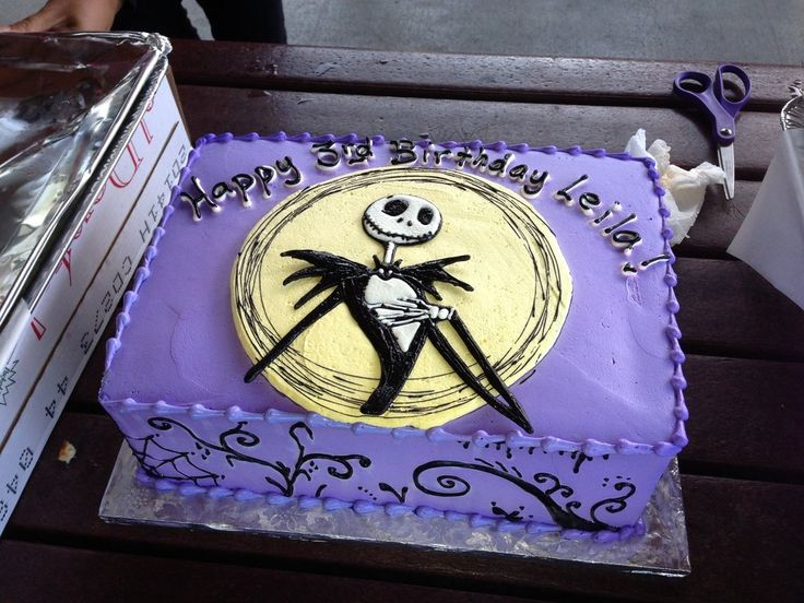 jack skellington edible cake topper