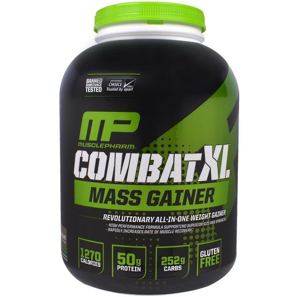 Muscle Pharm, Combat XL Mass Gainer, Chocolate, 6 lbs (2722 g)