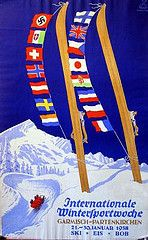 Garmisch Internationale Wintersportwoche (Susanlenox) Tags: mountain snow ski ice illustration germany poster deutschland nieve alemania plakat cartel alemanya rtol