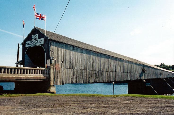 The world's longest covered bridge: Hartland Covered Bridge, New Brunswick, Canada
