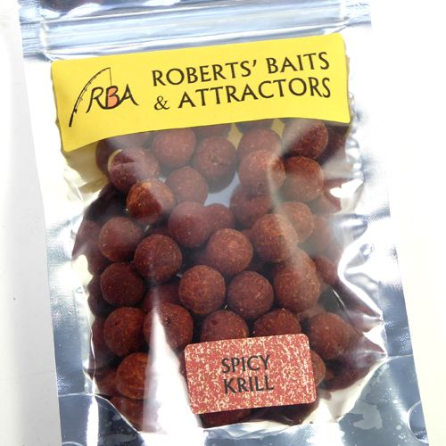 100g Spicy Krill with Crushed Chillies Shelf Life 14mm Boilies RBA Fishing Bait #RBA #carp #fishing #bait #rbafishingbait #hookbaits