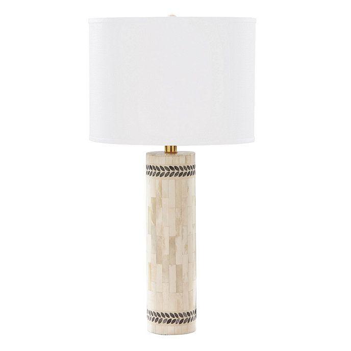Delilah Bone Inlay Table Lamp With Shade Bone Inlay Bone Inlay Table Lamp