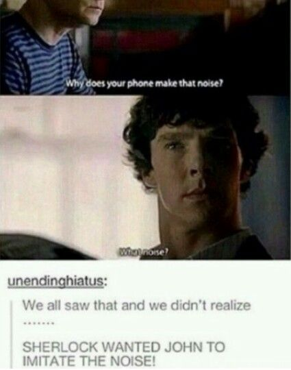 Sherlock does have a sense of humor.