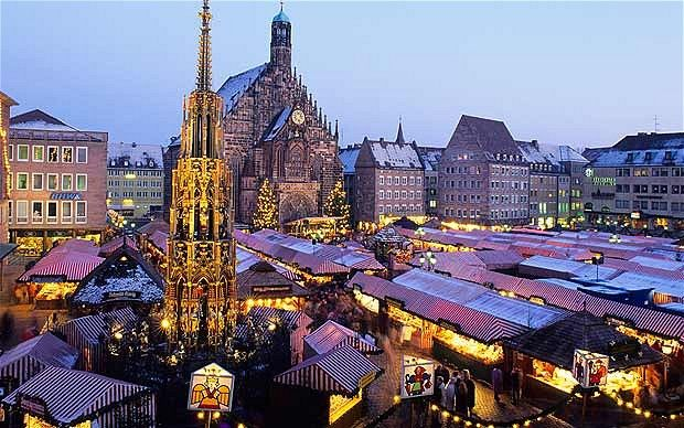 ...  in dark December it dazzles, its 400-year-old Christkindlesmarkt the prototype for Christmas markets across Europe. Description from telegraph.co.uk. I searched for this on bing.com/images