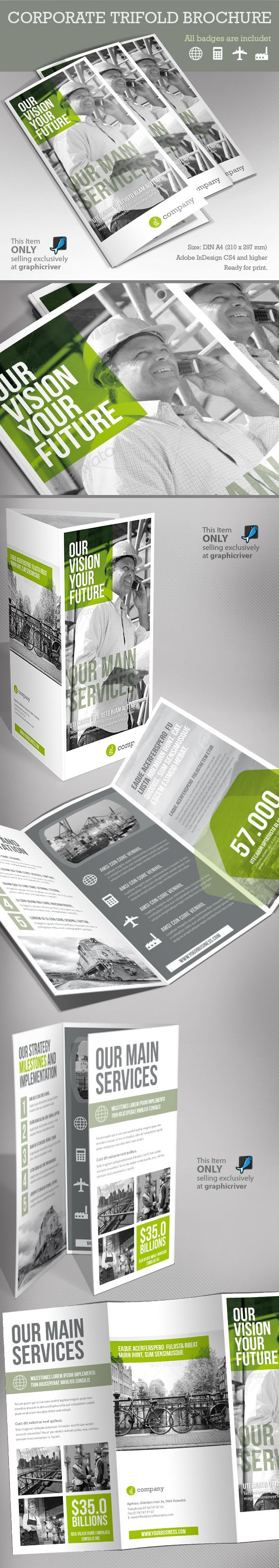 Corporate Tri-fold Brochure on Behance
