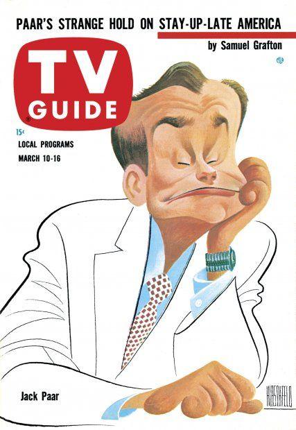 TV Guide March 10, 1962 - Jack Paar by Al Hirschfeld