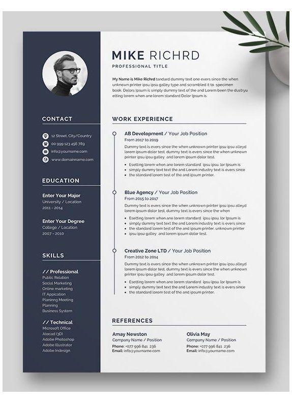 Minimalist Resume Template Professional Minimalist Cv Template Minimalistresume Professiona In 2021 Minimalist Resume Template Minimalist Resume Modern Cv Template