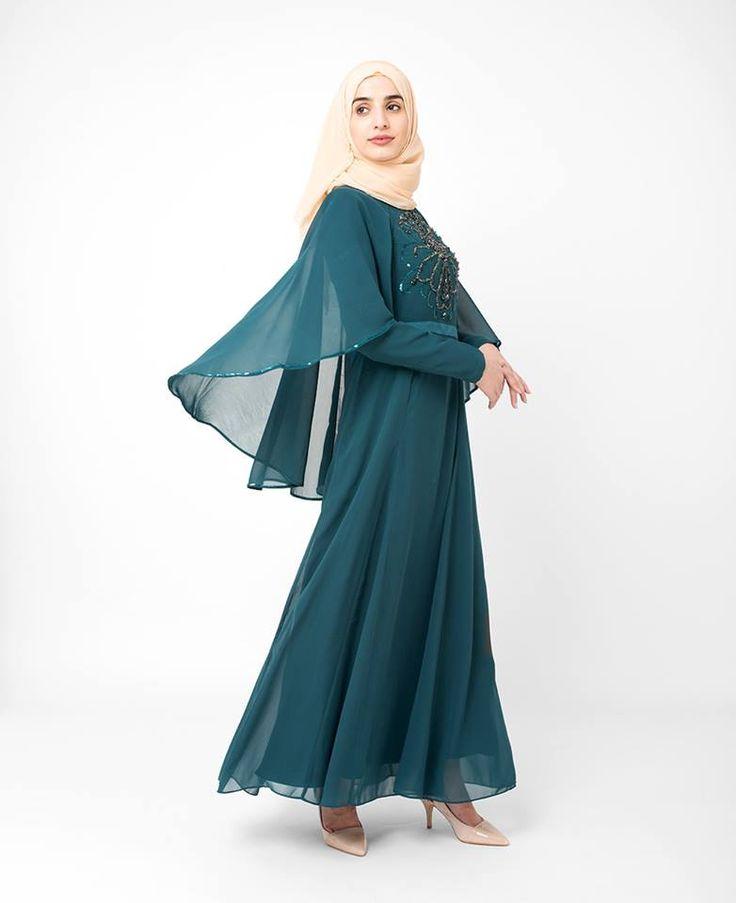 Teal Embellished gown   SilkRoute   My Online Souk   www.myonlinesouk.co.za