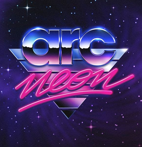 are neon thumb Jaw dropping 80s style neon artwork designs