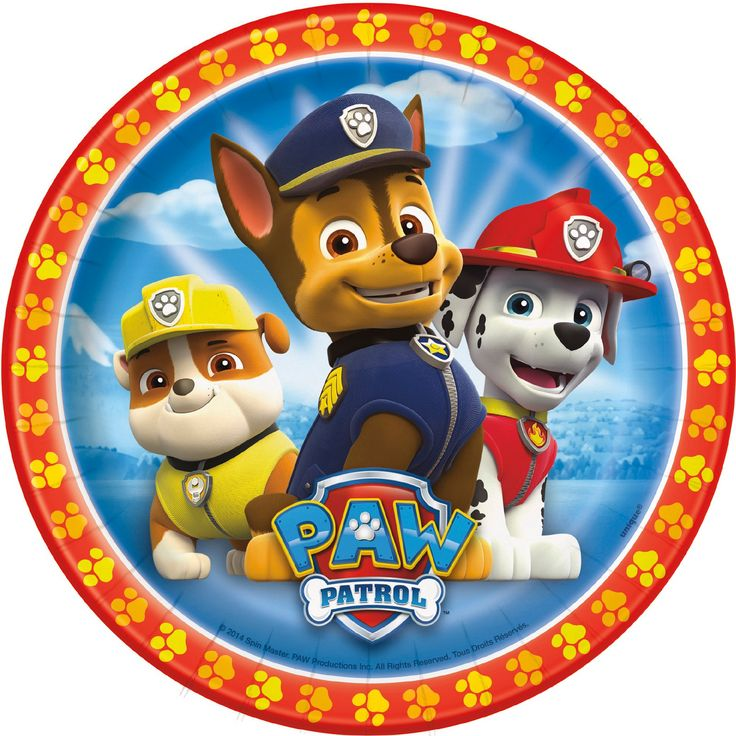 PAW Patrol Dessert Plates (8) from BirthdayExpress.com
