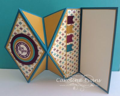 open view up hand made fun fold card by Carolina Evans - Stampin' Up! Demonstrator, Melbourne Australia ...