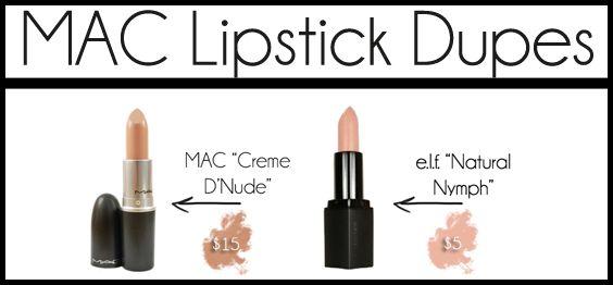 Inexpensive alternatives to MAC lipstick shades -Momo