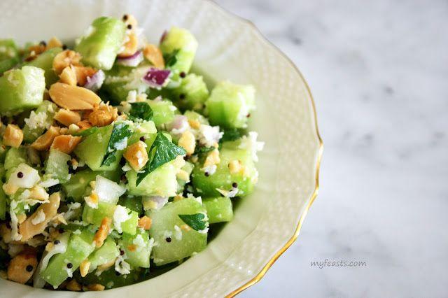 My Feasts: Cucumber And Peanut Salad | Malaysian/Singaporean savoury ...