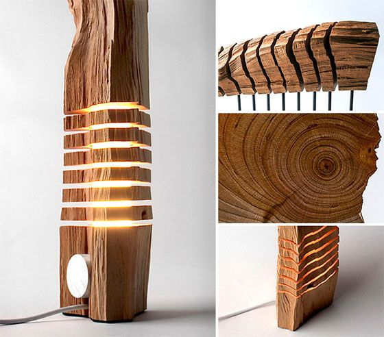 Split Grain: Wooden Lamps and Sculptures by Paul Foeckler