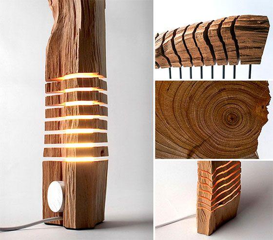 Split Grain: Wooden Lamps and Sculptures by Paul Foeckler