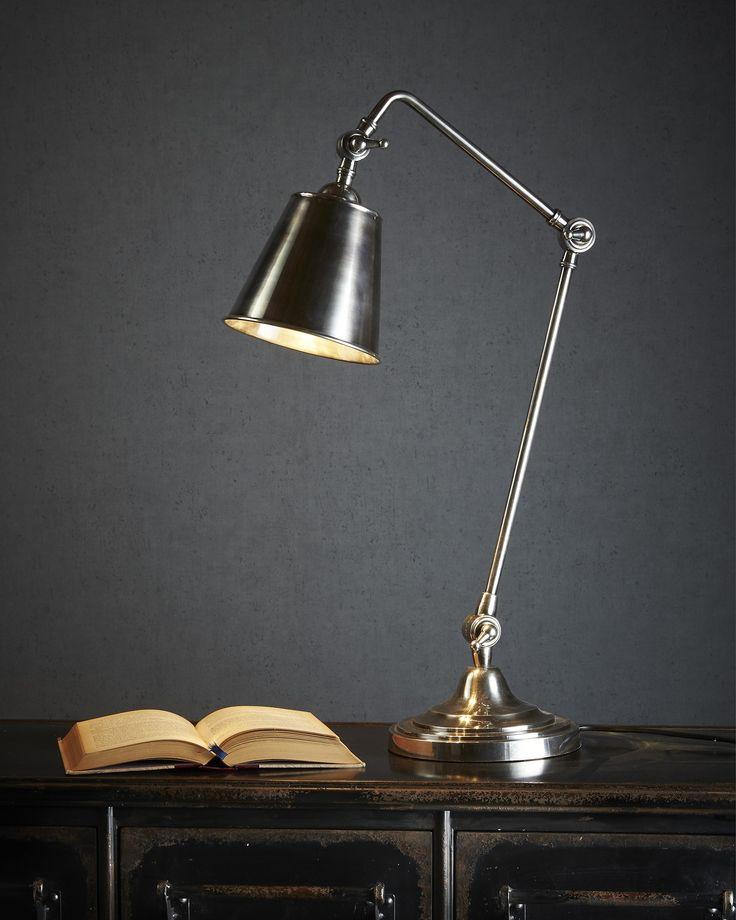 Cuba Table Lamp In Silver - DESK LAMPS  - Emac & Lawton