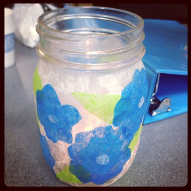 Mason Jar Craft Ideas Mason Jar Glue Tissue Paper Craft Ideas Tissue Paper Crafts