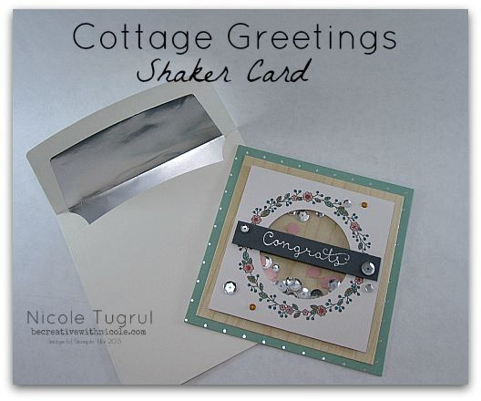 Shaker Card with Cottage Greetings