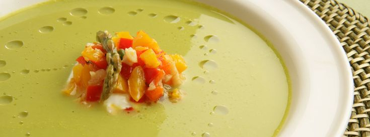 Nick Stellino - Asparagus Soup with a Confit of Peppers & Asparagus Tips