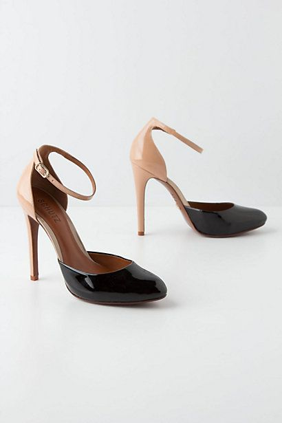 {Patent Moiety Heels | Anthropologie}: Wedding Shoes, Fall Shoes, Work Shoes, Moieti Heels, Tans Pumps, Black Heels, Ankle Straps Heels, Patent Moieti, Two Tones