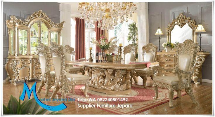 Set Ruang Makan Ukir Royal Mewah