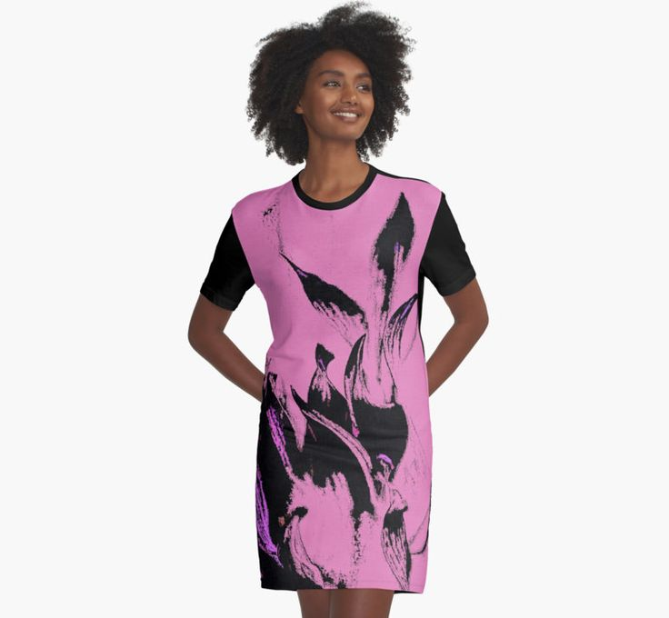 Black Flames on Pink Pattern by cool-shirts