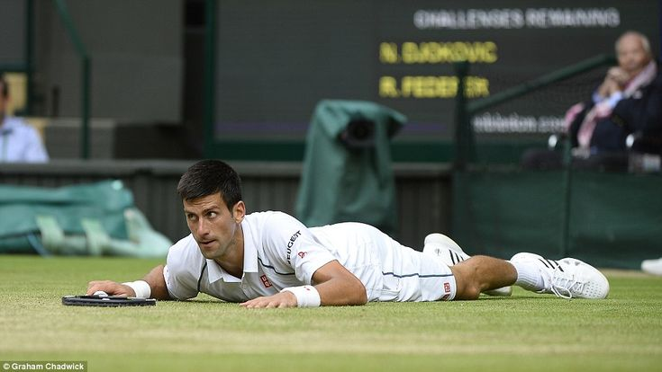 Defending Wimbledon champion Djokovic was reduced to being on his hands and knees during a pulsating second set tiebreak