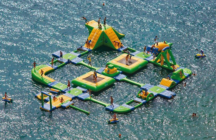 This giant inflatable water park is located at Callaway Gardens Resort, Pine Mountain, GA. Click to view more awesome pictures.
