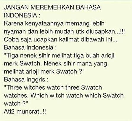 Bahasa Indonesia vs Inggris - #Meme - http://wp.me/p3MK7L-bsx