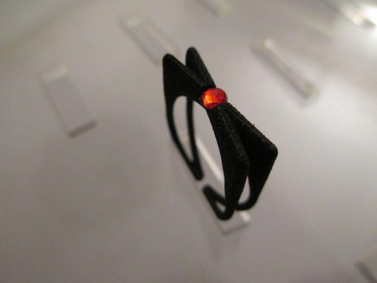 Blinker nero con brillantino rosso