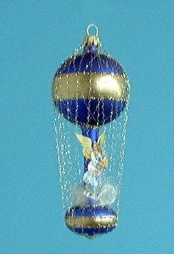 Ballon mit Bild/Engel umsponnen Christbaumschmuck Weihnachtsbaumschmuck mundgeblasen,handdekoriert,Leonischer Draht Lauschaer Glas das Original: Amazon.de: Küche & Haushalt