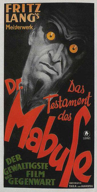 Fritz Lang's Dr. Mabuse | Film Poster