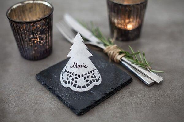 Namensschilder für Weihnachten basteln - Handmade Kultur