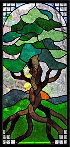 Braided Tree by Dark Hollow Stained Glass