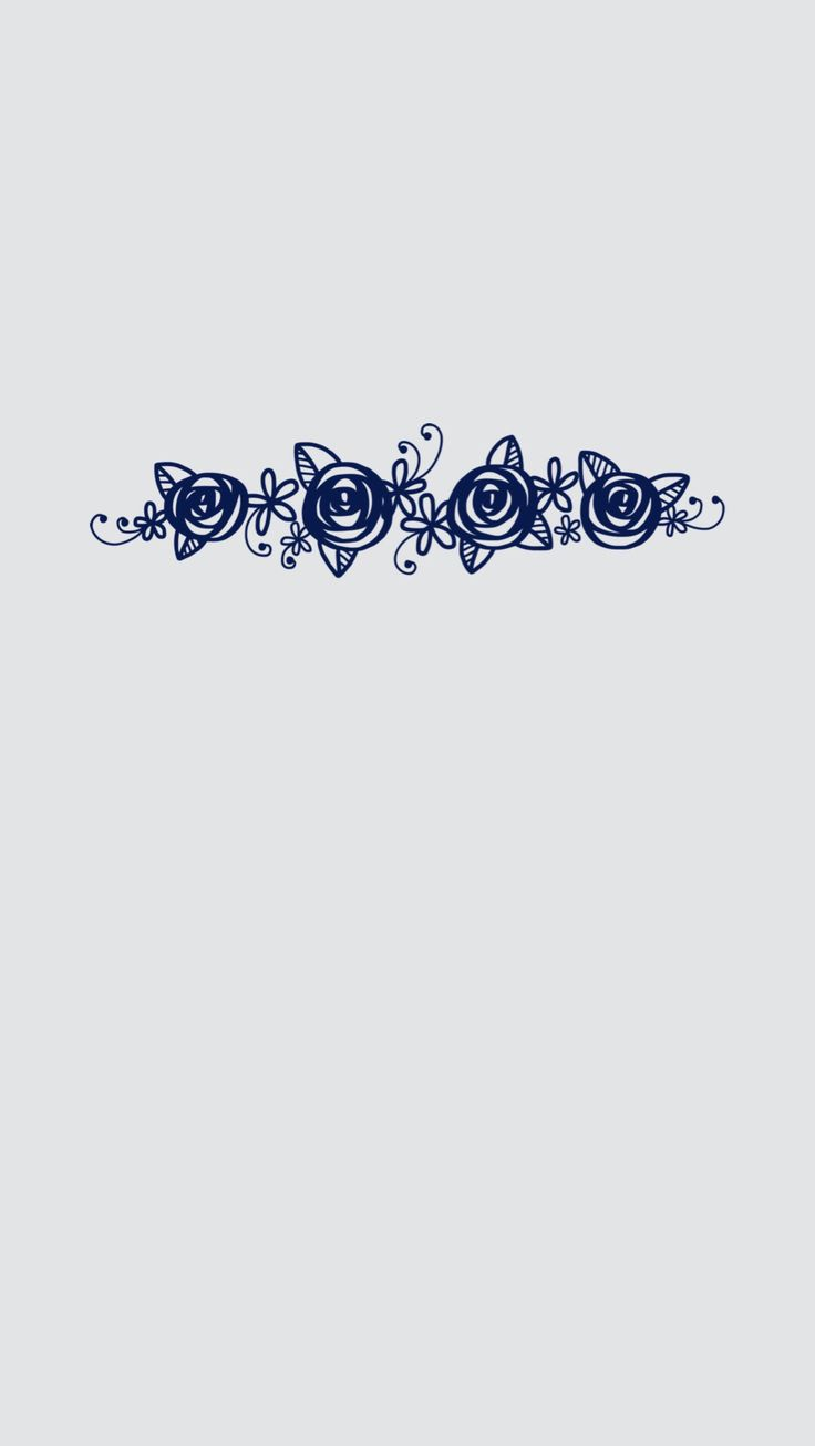 iPhone 6 Plus lock screen wallpaper. Minimal gray with blue flowers.