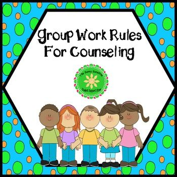 These brightly colored group work rules will help you run effective groups and can be used for all your counseling groups. Rules:When someone is talking, please listenTreat others with kindness and respectStay in your seat, unless you have permission to leave itRespect other's stuffDo not repeat what other group member's talk aboutThese rules are created in Powerpoint, so you can display them on a screen to go over.