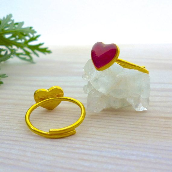 Hey, I found this really awesome Etsy listing at https://www.etsy.com/listing/270085814/heart-ring-red-heart-ring-gold-midi-ring