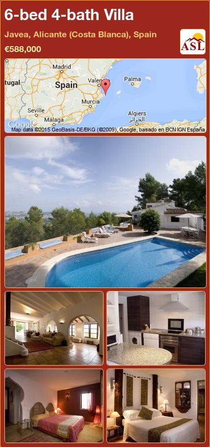 6-bed 4-bath Villa in Javea, Alicante (Costa Blanca), Spain ►€588,000 #PropertyForSaleInSpain