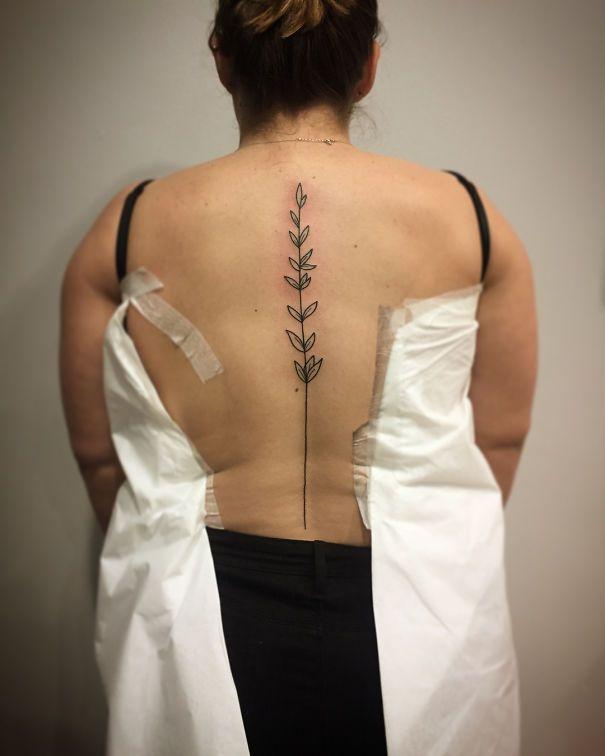 Spine Tattoo Design Tattoos Spine Tattoos Tattoos Flower Spine