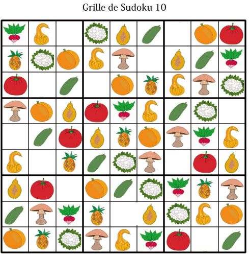 coloriage Imprimer les grille de sudoku 10 - sudoku enfant maternelle