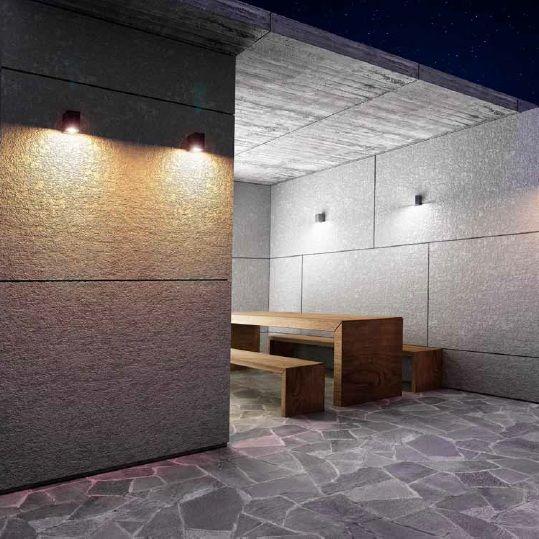 Venkovní svítidlo nástěnné  LED RENDL RED R10377 Určené k montáži na stěnu s připojením na běžný rozvod elektriky, tedy u nás na rozvod 230v #outdoor, #light, #wall, #front_doors, #style, #rustical #led #rendl #red #svítidlo #osvětlení #světlo